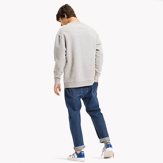 TOMMY JEANS Felpa relaxed fit con stampa grafica - CLASSIC WHITE - TOMMY JEANS Uomini - dettaglio immagine 1