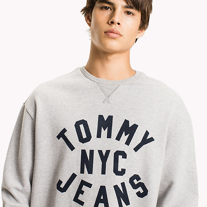 TOMMY JEANS Felpa relaxed fit con stampa grafica - CLASSIC WHITE - TOMMY JEANS Uomini - dettaglio immagine 2