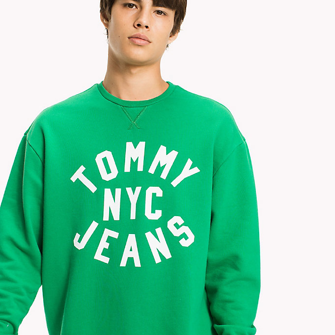 TOMMY JEANS Felpa relaxed fit con stampa grafica - BLACK IRIS - TOMMY JEANS Uomini - dettaglio immagine 2