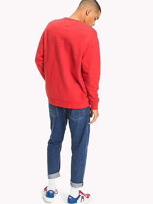 TOMMY JEANS Graphic Relaxed Fit Sweatshirt - RACING RED - TOMMY JEANS MEN - detail image 1