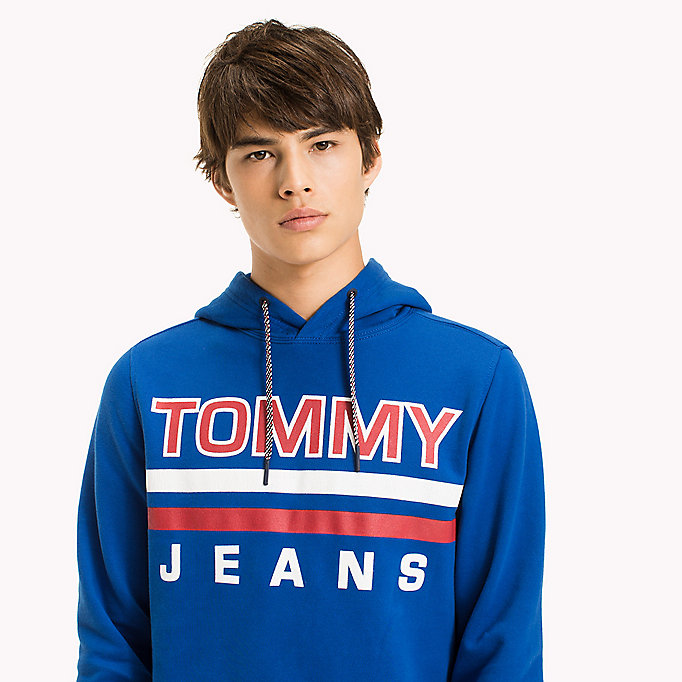TOMMY JEANS Regular Fit Hoodie - BLACK IRIS - TOMMY JEANS Clothing - detail image 2