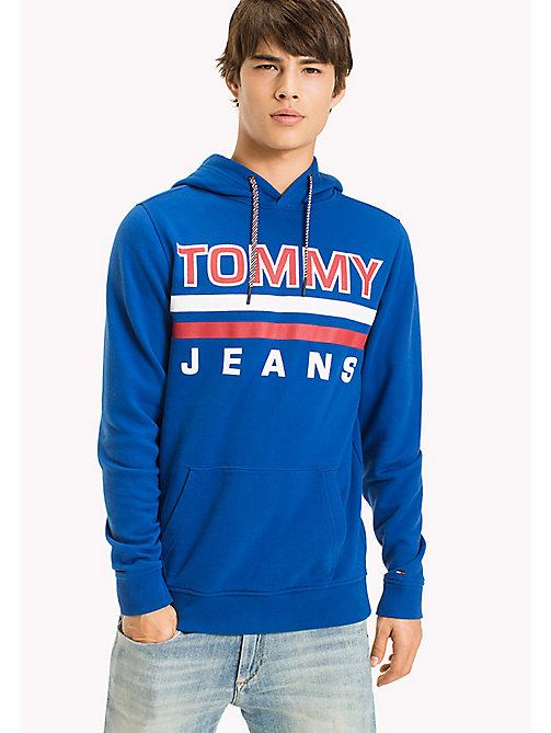 TOMMY JEANS Regular fit hoodie - NAUTICAL BLUE -  TOMMY JEANS HEREN - main image