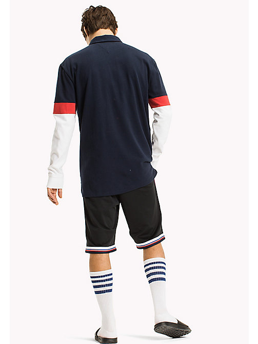 TOMMY JEANS Colour-Blocked Rugby Shirt - BLACK IRIS / MULTI - TOMMY JEANS MEN - detail image 1