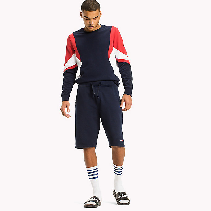 TOMMY JEANS Terry Cotton Basketball Shorts - TOMMY BLACK - TOMMY JEANS Men - main image