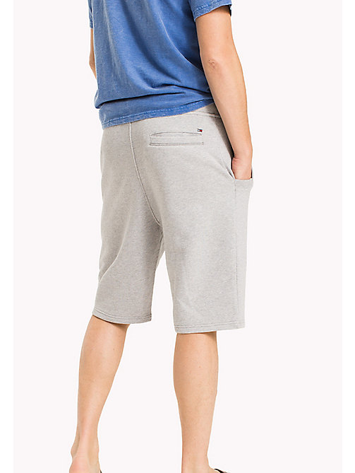 TOMMY JEANS Terry Cotton Basketball Shorts - LT GREY HTR - TOMMY JEANS Vacation Style - detail image 1