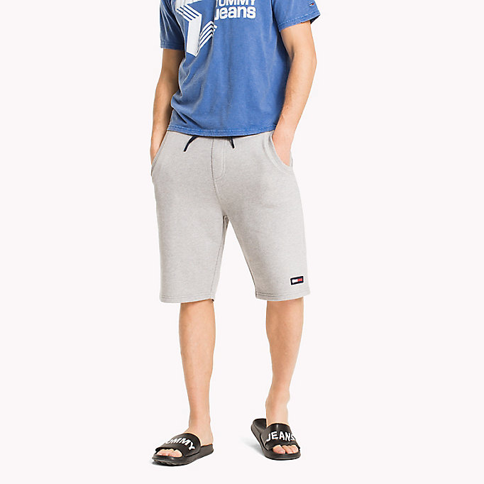 TOMMY JEANS Terry Cotton Basketball Shorts - BLACK IRIS - TOMMY JEANS Men - main image