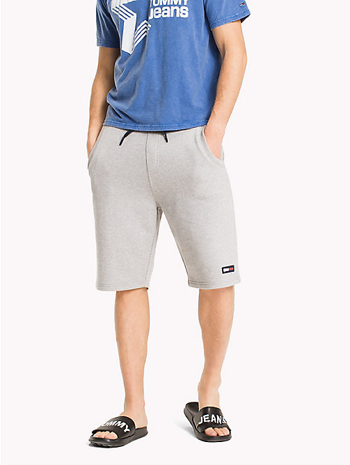 TOMMY JEANS Terry Cotton Basketball Shorts - LT GREY HTR - TOMMY JEANS Vacation Style - main image