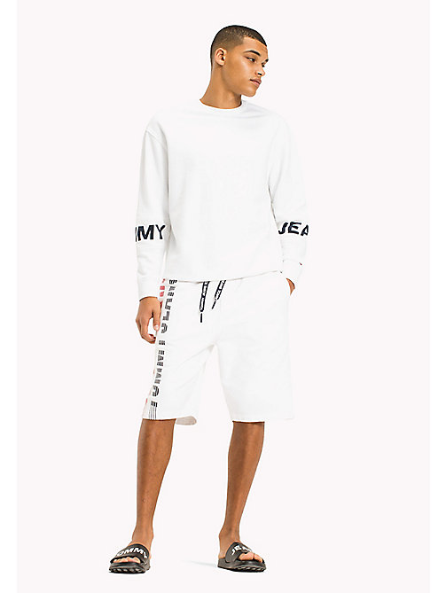 TOMMY JEANS Relaxed Fit Basketball Shorts - CLASSIC WHITE - TOMMY JEANS Trousers & Shorts - main image