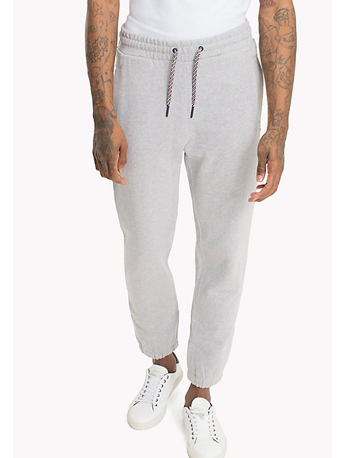 TOMMY JEANS Regular Fit Sweatpants - LT GREY HTR - TOMMY JEANS Trousers & Shorts - main image