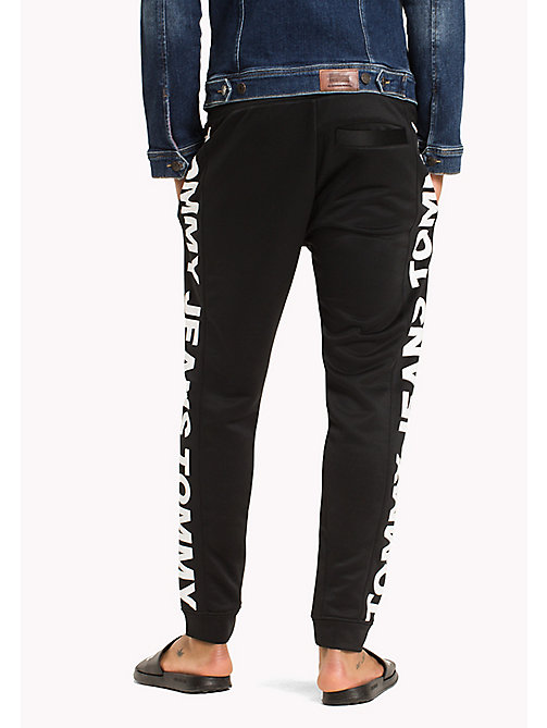 TOMMY JEANS Racer Logo Sweatpants - TOMMY BLACK - TOMMY JEANS Trousers & Shorts - detail image 1