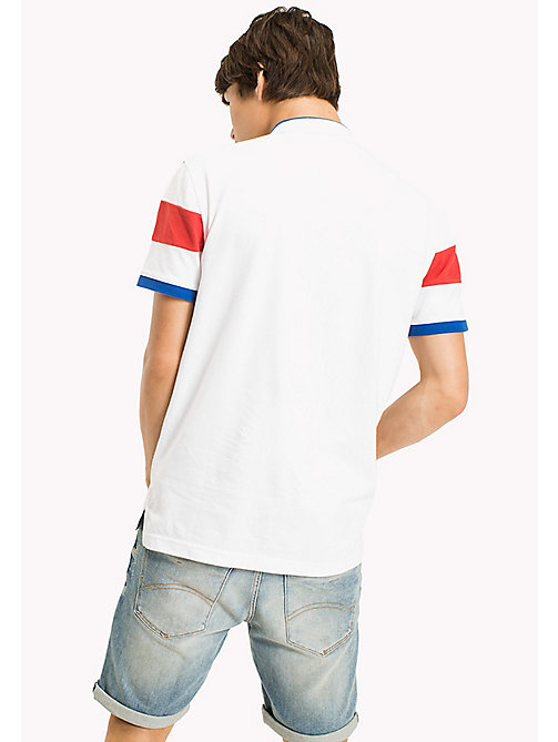 TOMMY JEANS Polo Relaxed Fit Shirt - CLASSIC WHITE - TOMMY JEANS Sustainable Evolution - detail image 1