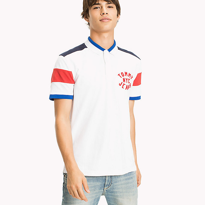 TOMMY JEANS Polo Relaxed Fit Shirt - NAUTICAL BLUE - TOMMY JEANS Clothing - main image