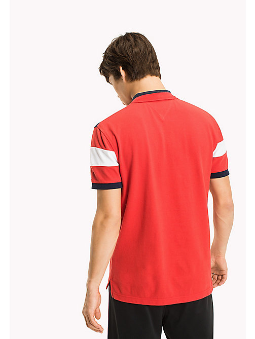 TOMMY JEANS Polo Relaxed Fit Shirt - RACING RED - TOMMY JEANS Sustainable Evolution - detail image 1