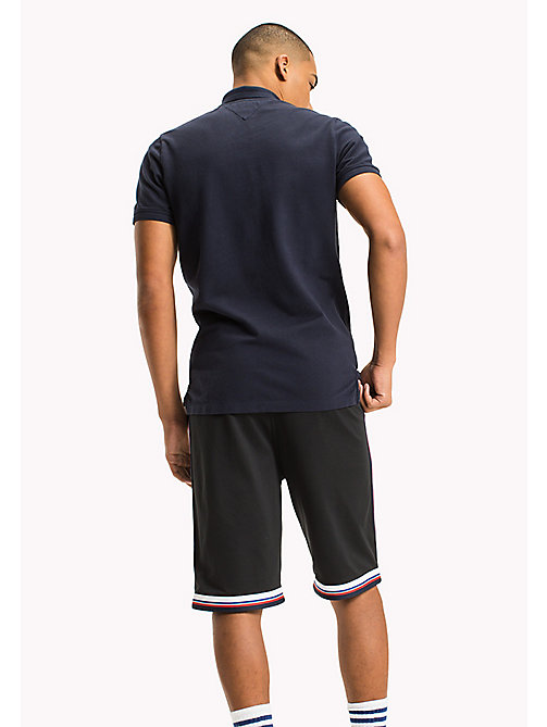 TOMMY JEANS Cotton Stretch Piqué Slim Fit Polo - BLACK IRIS - TOMMY JEANS MEN - detail image 1