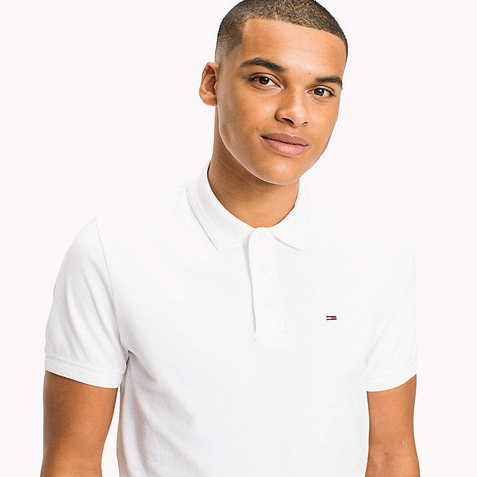TOMMY JEANS Polo slim fit in cotone stretch - NAUTICAL BLUE - TOMMY JEANS Uomini - dettaglio immagine 2