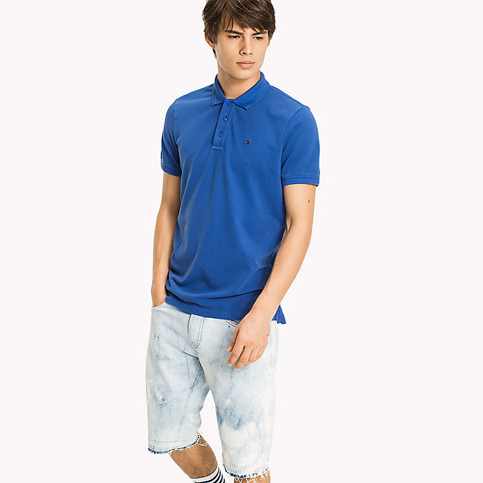 TOMMY JEANS Polo slim fit in cotone stretch - MAUI BLUE - TOMMY JEANS Uomini - immagine principale
