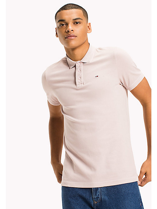 TOMMY JEANS Polo slim fit in cotone stretch - VIOLET ICE - TOMMY JEANS UOMINI - immagine principale