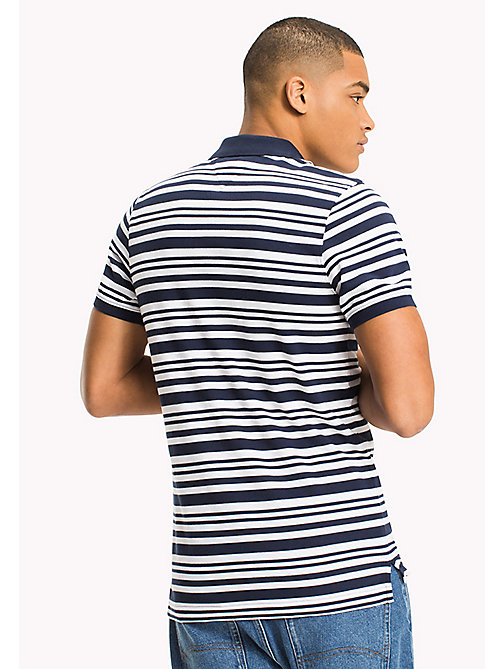 TOMMY JEANS Fitted Stripe Polo Shirt - BLACK IRIS - TOMMY JEANS HERREN - main image 1