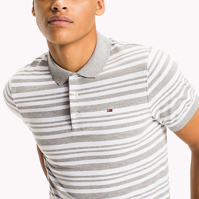 TOMMY JEANS Fitted Stripe Polo Shirt - NAUTICAL BLUE - TOMMY JEANS Men - detail image 2