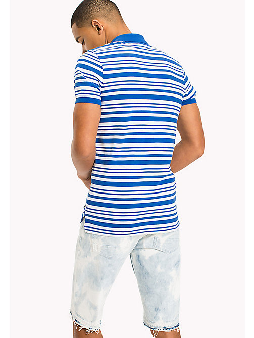 TOMMY JEANS Fitted Stripe Polo Shirt - NAUTICAL BLUE - TOMMY JEANS T-Shirts & Polos - detail image 1
