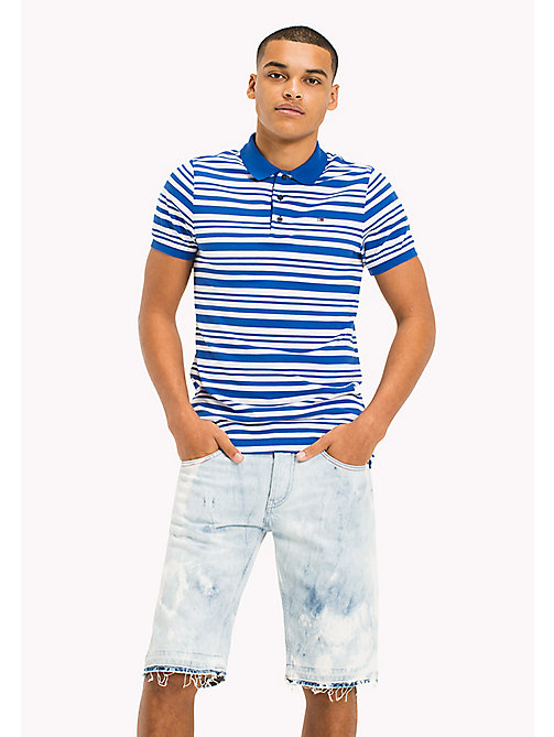 TOMMY JEANS Fitted Stripe Polo Shirt - NAUTICAL BLUE - TOMMY JEANS T-Shirts & Polos - main image
