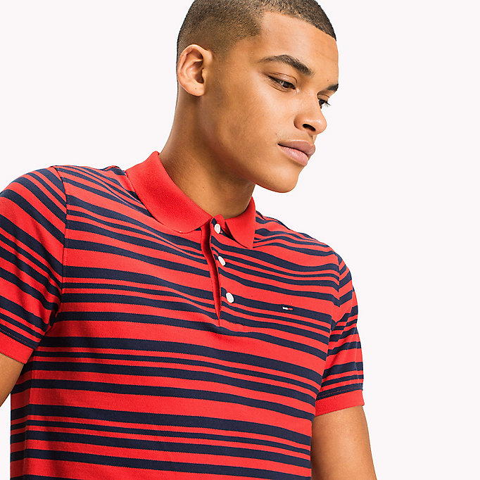 TOMMY JEANS Fitted Stripe Polo Shirt - BLACK IRIS - TOMMY JEANS Clothing - detail image 2