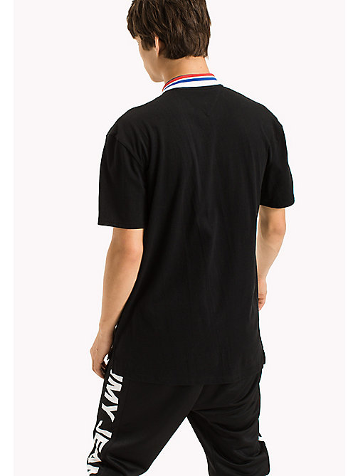 TOMMY JEANS Oversized Polo Shirt - TOMMY BLACK - TOMMY JEANS Festival Season - detail image 1