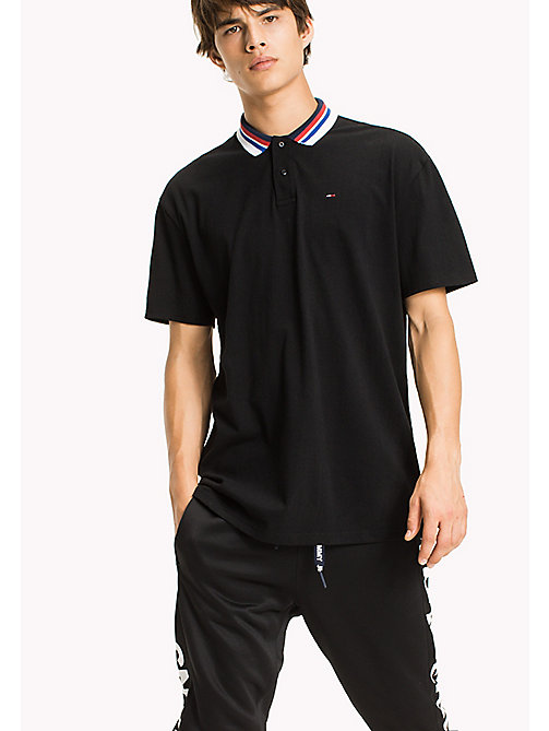 TOMMY JEANS Oversized Polo Shirt - TOMMY BLACK - TOMMY JEANS Festivals Season - main image