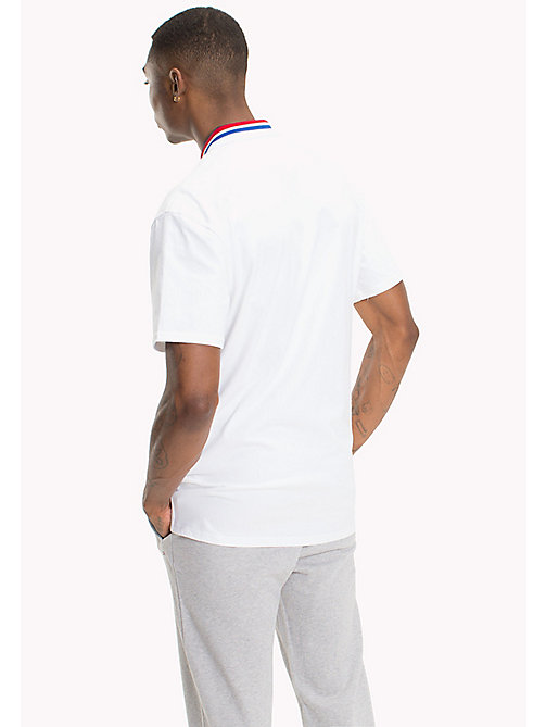 TOMMY JEANS Oversized Polo Shirt - CLASSIC WHITE - TOMMY JEANS MEN - detail image 1
