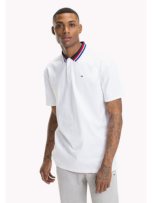 TOMMY JEANS Oversized Polo Shirt - CLASSIC WHITE - TOMMY JEANS Festival Season - main image