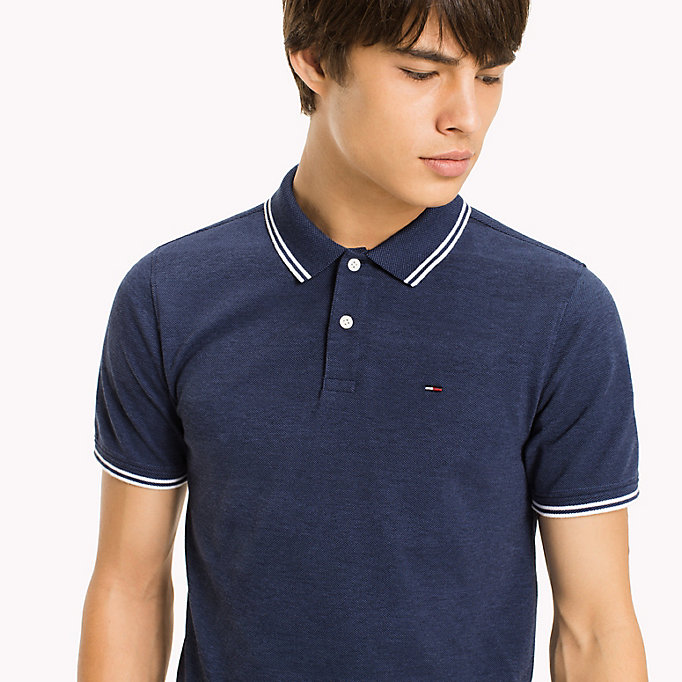 TOMMY JEANS Polo Slim Fit Shirt - TOMMY BLACK - TOMMY JEANS Clothing - detail image 2