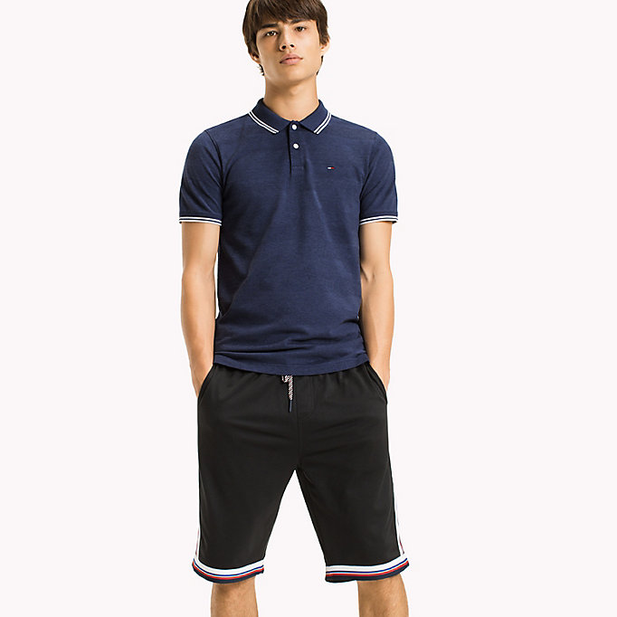 TOMMY JEANS Polo Slim Fit Shirt - TOMMY BLACK - TOMMY JEANS Clothing - main image