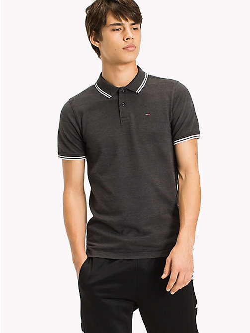 TOMMY JEANS Polo Slim Fit Shirt - TOMMY BLACK -  Clothing - main image