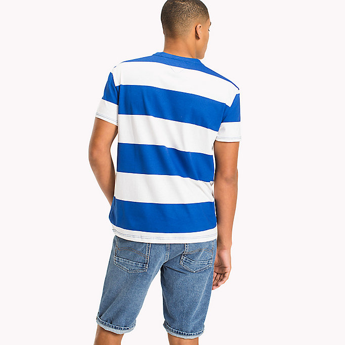 TOMMY JEANS Chunky Stripe T-Shirt - JELLY BEAN - TOMMY JEANS Men - detail image 1