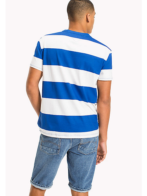 TOMMY JEANS Chunky Stripe T-Shirt - NAUTICAL BLUE - TOMMY JEANS Clothing - detail image 1