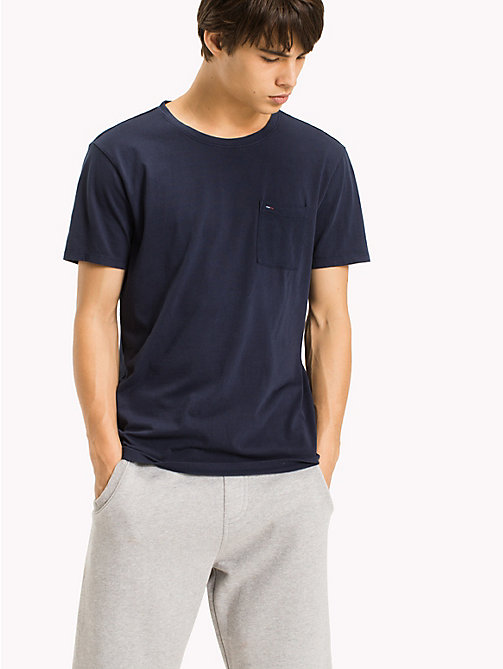 TOMMY JEANS Jersey Pocket T-Shirt - BLACK IRIS - TOMMY JEANS Clothing - main image