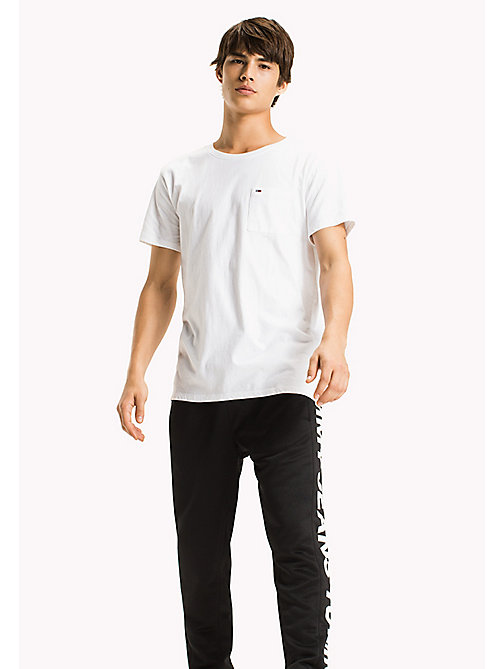 TOMMY JEANS Jersey Pocket T-Shirt - CLASSIC WHITE - TOMMY JEANS Clothing - main image