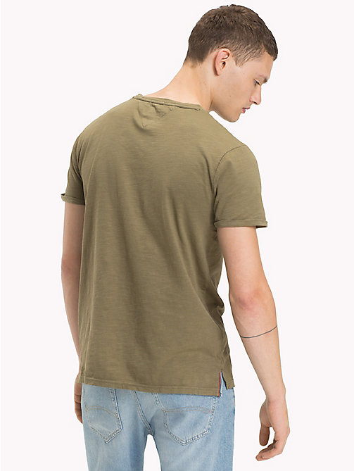 TOMMY JEANS Jersey Relaxed Fit T-Shirt - DEEP LICHEN - TOMMY JEANS MEN - detail image 1