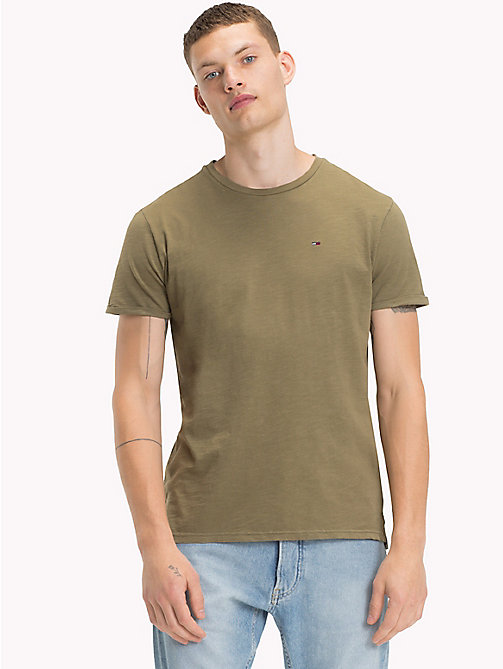 TOMMY JEANS Jersey Relaxed Fit T-Shirt - DEEP LICHEN - TOMMY JEANS MEN - main image