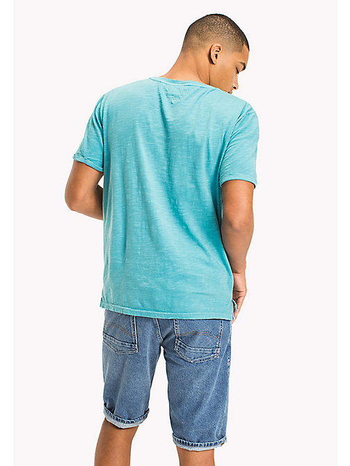 TOMMY JEANS Relaxed Fit T-Shirt aus Jersey - MAUI BLUE - TOMMY JEANS T-Shirts & Poloshirts - main image 1