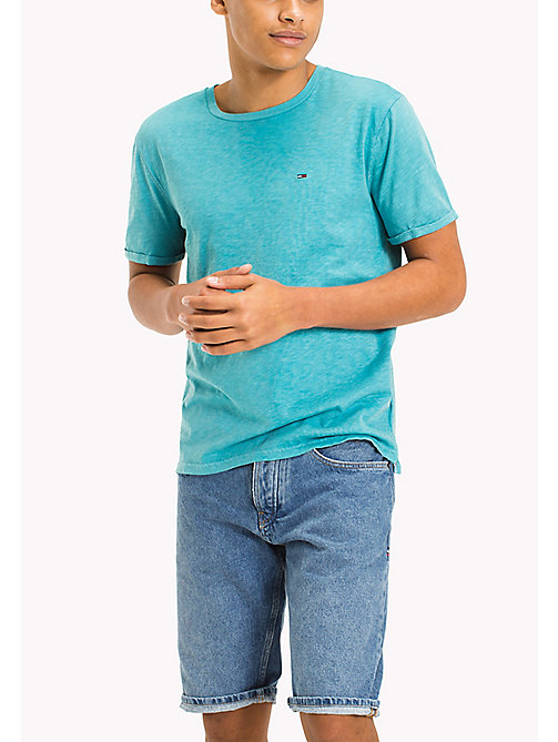 TOMMY JEANS Jersey Relaxed Fit T-Shirt - MAUI BLUE - TOMMY JEANS T-Shirts & Polos - main image