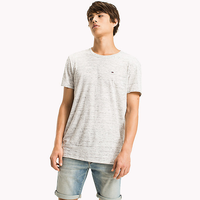 TOMMY JEANS Jersey Heather T-Shirt - DEEP LICHEN - TOMMY JEANS Clothing - main image