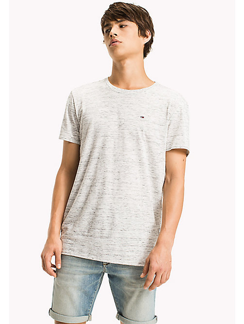 TOMMY JEANS Jersey Heather T-Shirt - CLASSIC WHITE - TOMMY JEANS Clothing - main image