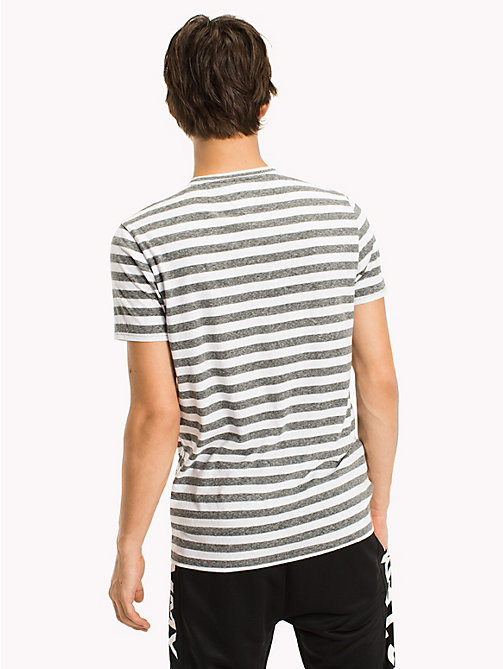 TOMMY JEANS Stripe Jersey T-Shirt - TOMMY BLACK - TOMMY JEANS MEN - detail image 1
