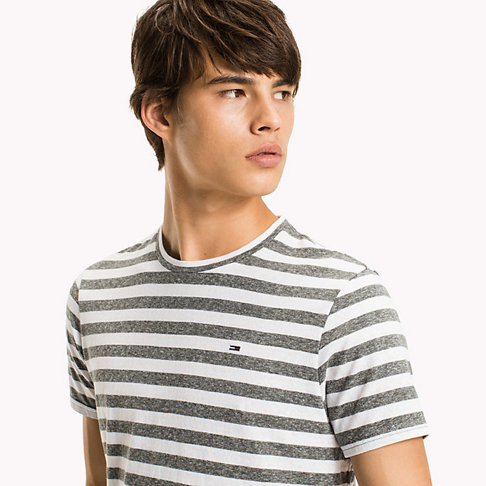 TOMMY JEANS Stripe Jersey T-Shirt - VIOLET ICE - TOMMY JEANS Men - detail image 2