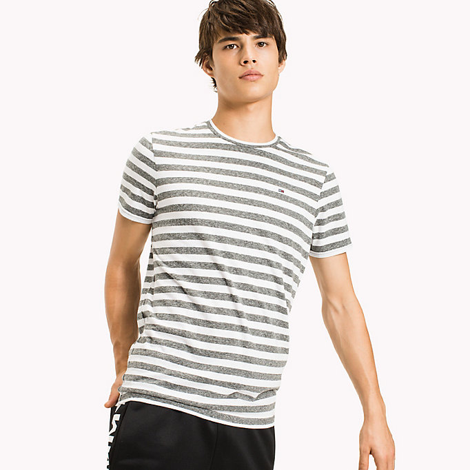 TOMMY JEANS Stripe Jersey T-Shirt - VIOLET ICE - TOMMY JEANS Clothing - main image