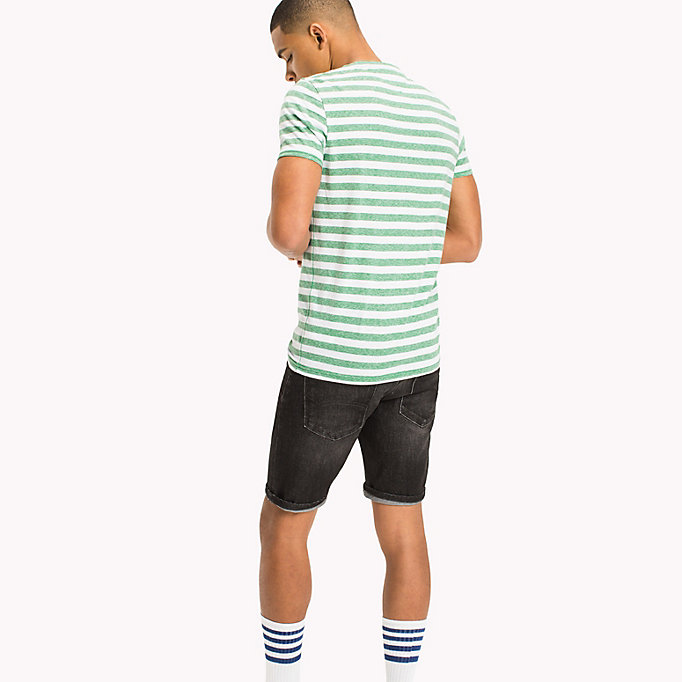 TOMMY JEANS Stripe Jersey T-Shirt - TOMMY BLACK - TOMMY JEANS Clothing - detail image 1