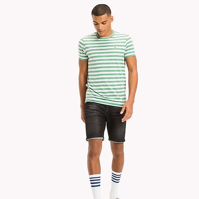 TOMMY JEANS Stripe Jersey T-Shirt - TOMMY BLACK - TOMMY JEANS Clothing - main image