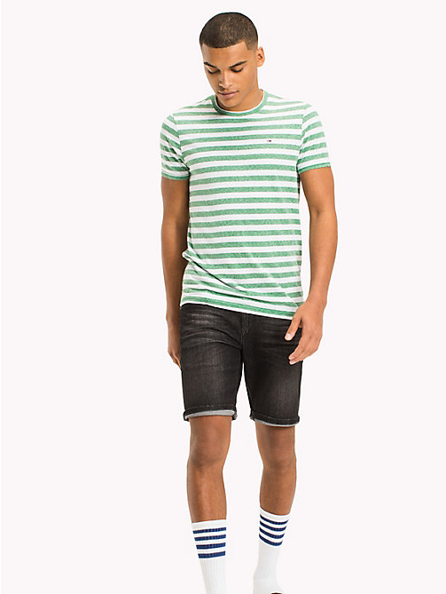 TOMMY JEANS T-shirt in jersey a righe - JELLY BEAN - TOMMY JEANS T-Shirts & Polos - immagine principale