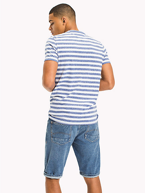 TOMMY JEANS Stripe Jersey T-Shirt - NAUTICAL BLUE - TOMMY JEANS Vacation Style - detail image 1